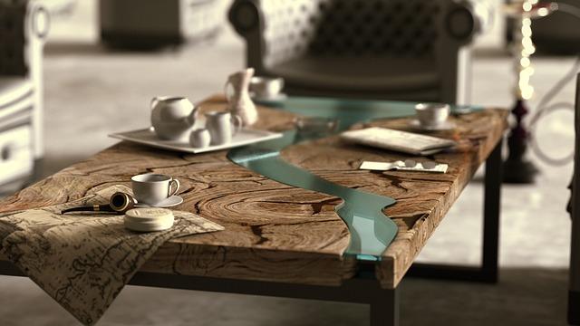 přírodní stůl
