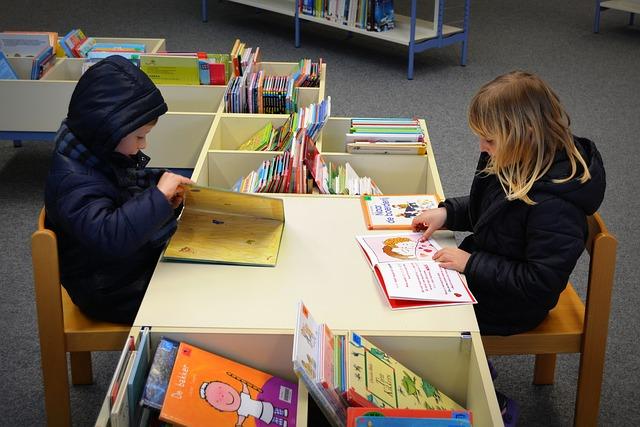 dětské oddělení knihovny
