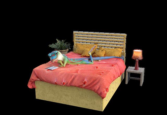 žába v posteli