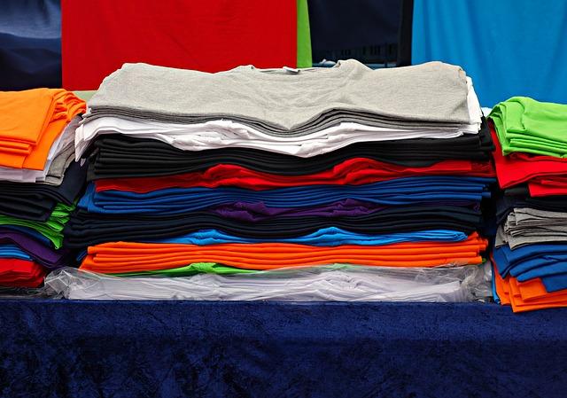 poskládané trička