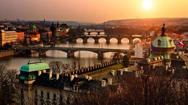 pohled na pražské mosty