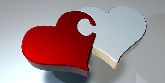 dvě srdce – puzzle