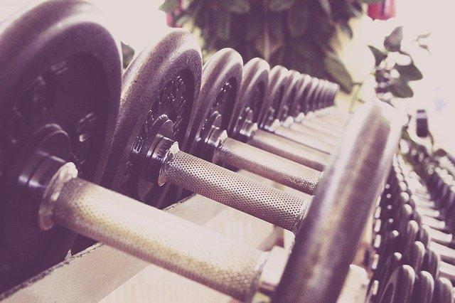 fitness činky