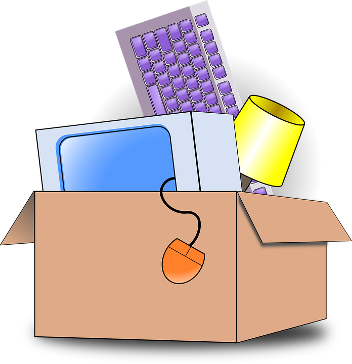 věci v krabici
